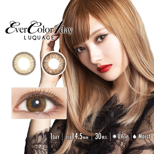 [Contact lenses] EverColor 1day Luquage [30 lenses / 1Box] / Daily Disposal Colored Contact Lenses<!--エバーカラーワンデールクアージュ 1箱30枚入 □Contact Lenses□-->