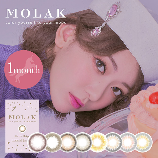 [Contact lenses] Molak 1month [2 lenses / 1Box] / Monthly Disposal 1Month Disposable Colored Contact Lens DIA14.2mm<!-- モラクマンスリー 2枚入り □Contact Lenses□ -->