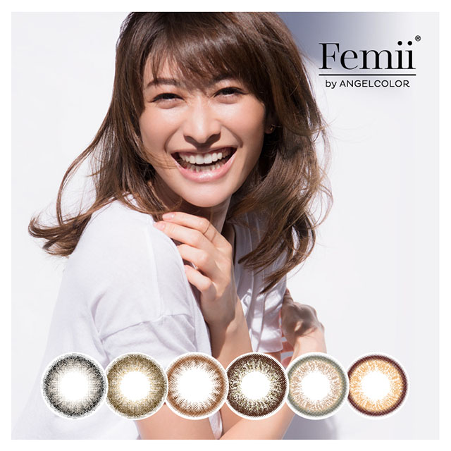 [Contact lenses] Femii by ANGEL COLOR [10 lenses / 1Box]<!-- フェミー バイ エンジェルカラー  1箱10枚入 □Contact Lenses□ -->